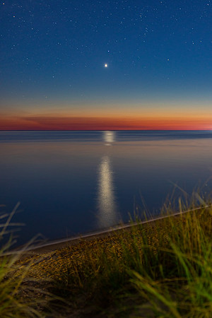 Venus Reflects Off of Lake Michigan