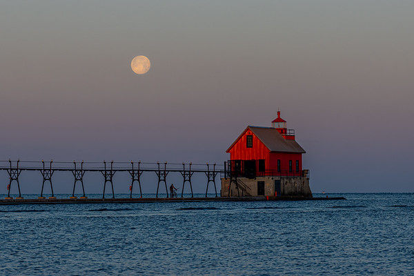 The Moon & and the Grand Haven Fog House