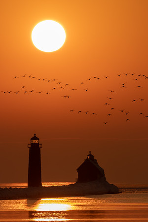 The Sun Sets Over Grand Haven