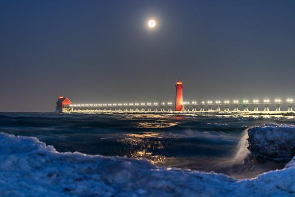 The Moonlit Pier