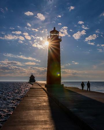 Sunburst Over the Pier