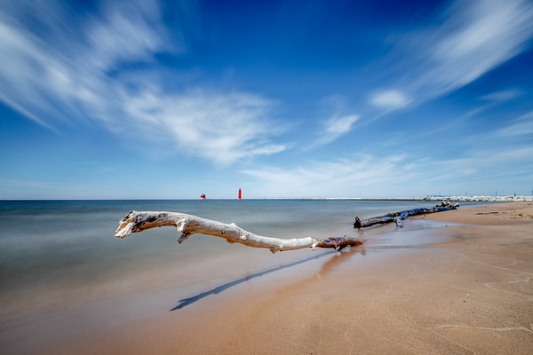 Clouds in Motion Over Grand Haven and Lake Michigan