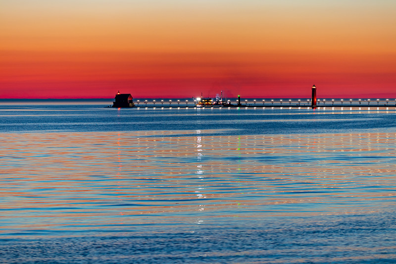 Grand Haven Pier and Afterglow