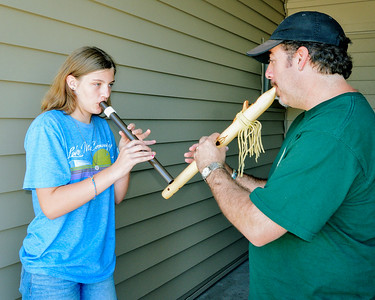 Flute lessons! (Photo by Fred Mast)
