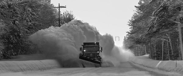 Alger County Snowplow on M-77