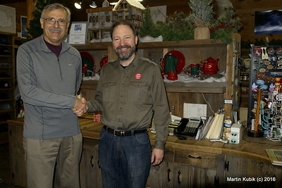 With Eric Humphrey, Lake Superior Trading Post, long time sponsor of BWAC.