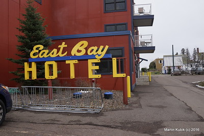 East Bay Suites kept the yesteryear sign - how vintage.