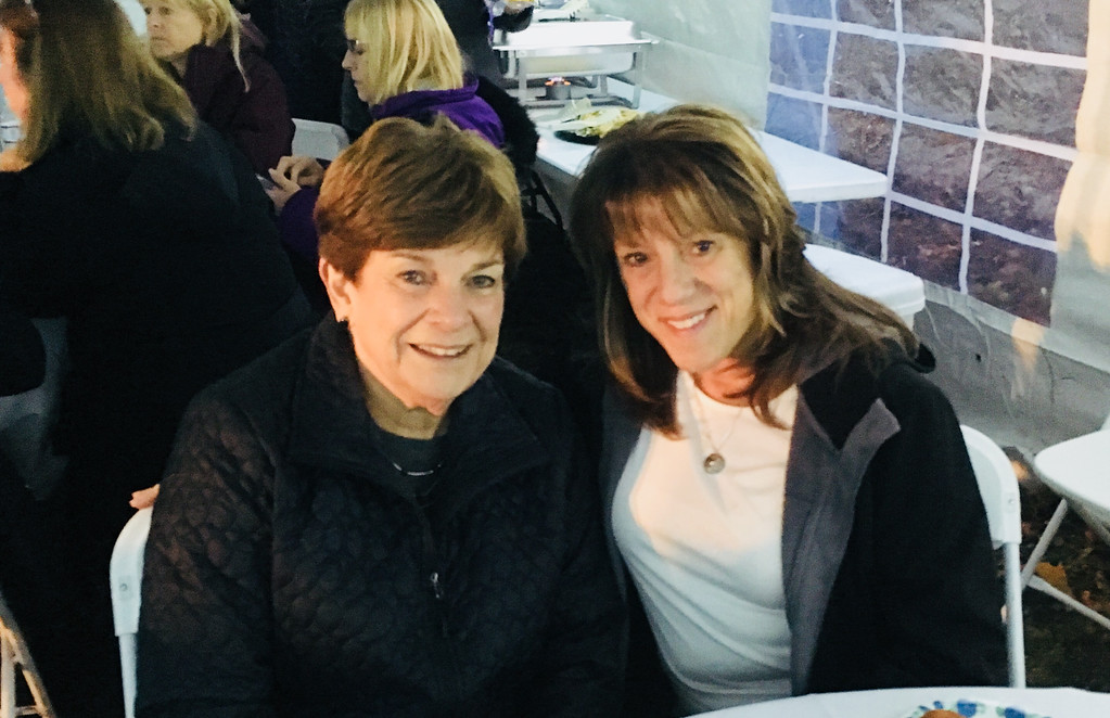 . Donna Grzyb of Lowell and Robyn Lessard of Pelham