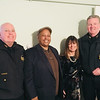 From left, Lowell Police Superintendent William Taylor of Dracut, Frank Campos of Lawrence, Zack's House President Louise Griffin of Lowell and Lowell police Deputy Superintendent Kelly Richardson of Lowell