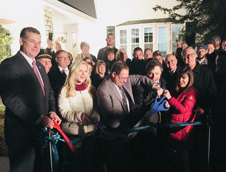 The ribbon-cutting ceremony at Zack's House, 221 Pawtucket Blvd., Lowell