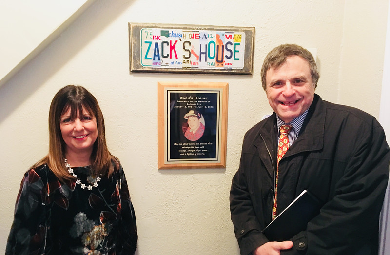 Zack's mom Louise Griffin, president of Zack's Team, and Bill Garr, CEO of Lowell House, both of Lowell