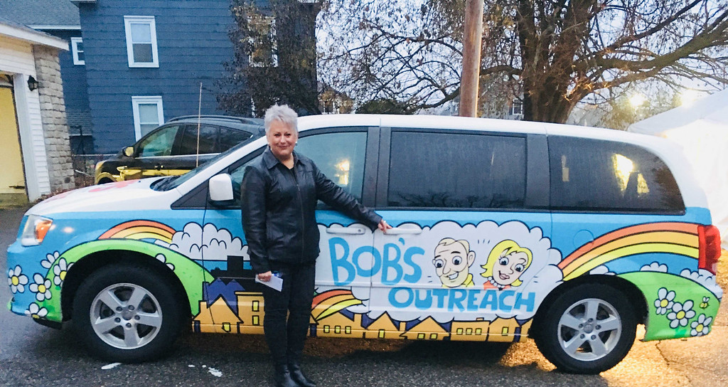 . Sharon Valley of Connecticut, outreach coordinator for Bob�s Furniture, which graciously donated all of the furniture for Zack�s House