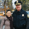 Yun-Ju Choi of Pelham and Lowell police Deputy Superintendent Kelly Richardson of Lowell