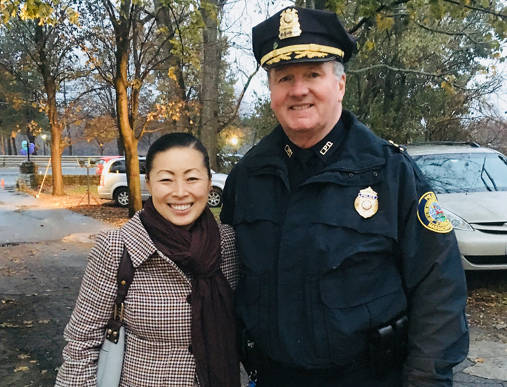 . Yun-Ju Choi of Pelham and Lowell police Deputy Superintendent Kelly Richardson of Lowell
