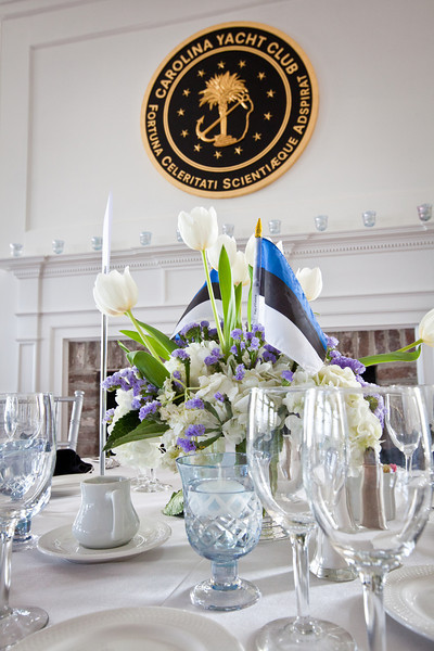 Note our blue JMC candelholders.