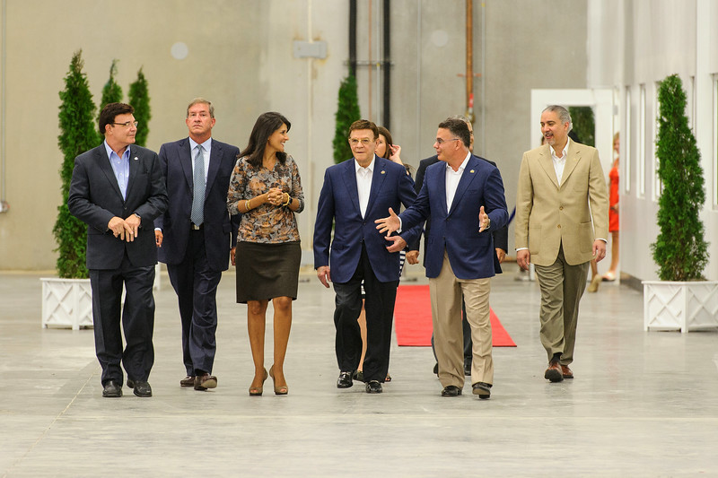 The honorable Nikki Haley tours the facility with owners and management.