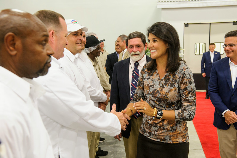 Governor Haley meets all of the workers at the facility.