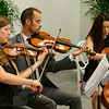 Classical musicians performed for the reception.