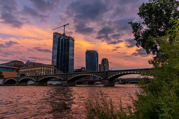 Sunset Glow in Grand Rapids