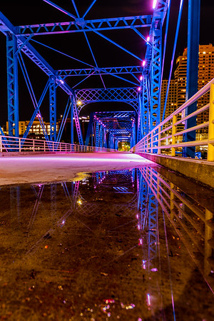 Reflections on the Grand Rapids Blue Bridge