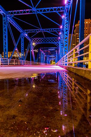 Reflections on the Grand Rapids Blue Bridge