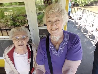 Irene Cook - Madeleine and Irene enjoying the sunshine on the Grand River Belle