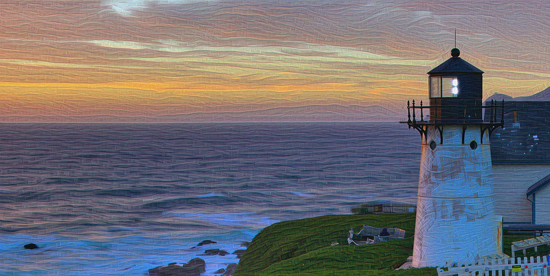 "Point Montara Lighthouse - Grand Scale ""Two-Pass"" Detail"