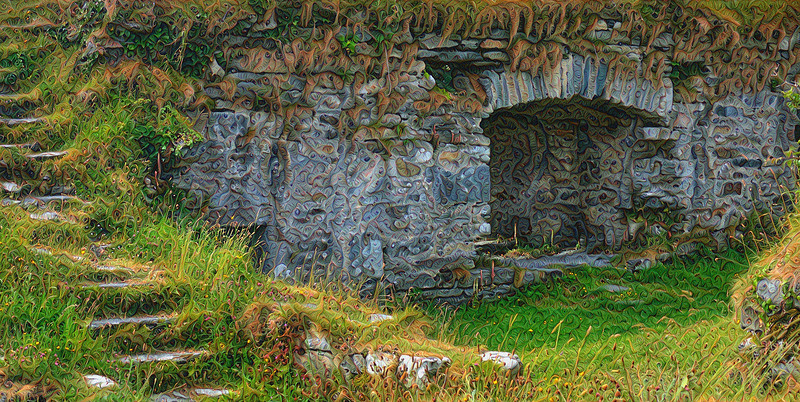 """Dunboy Castle - Grand Scale """"Two-Pass"""" Detail"""