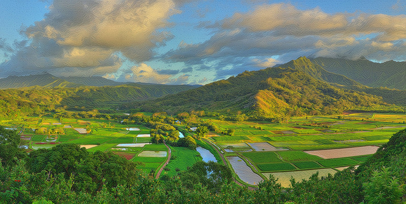 """Hanalei Lookout - Grand Scale """"Two-Pass"""" Detail"""