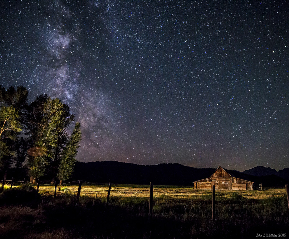 "Milky Way Over ""Other"" Moulton Barn"