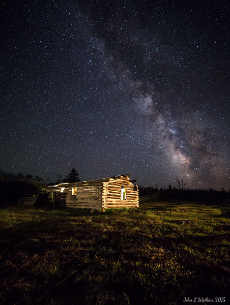 "Milky Way at the ""Shane Cabin"""