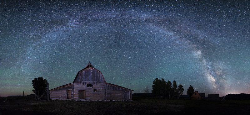 Milky Way Over Mormon Barn at Grand Teton National Park No. 1