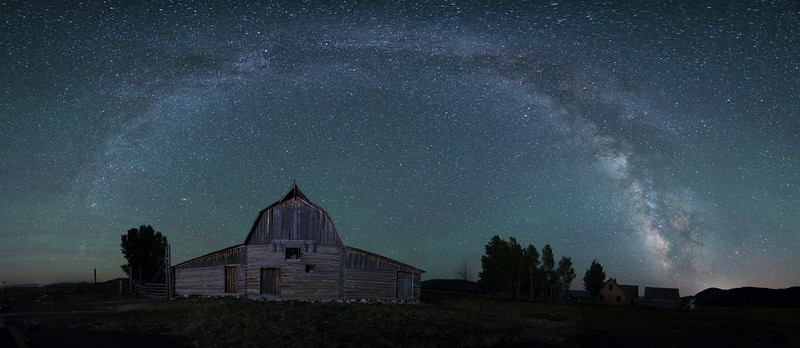 Milky Way Over Mormon Barn at Grand Teton National Park No. 2