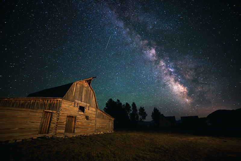 Milky Way Over Mormon Barn