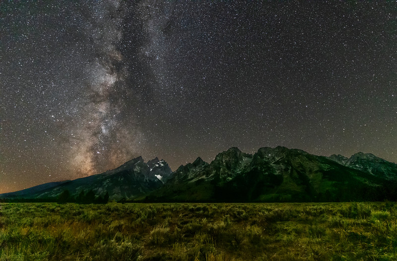 Wide Angle View of the Milky Way Over the Cathedral Group