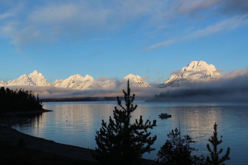 Sunrise on Jackson Lake