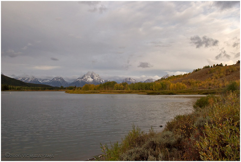 Snake River at Oxbow Bend with Mt Moran in the background.