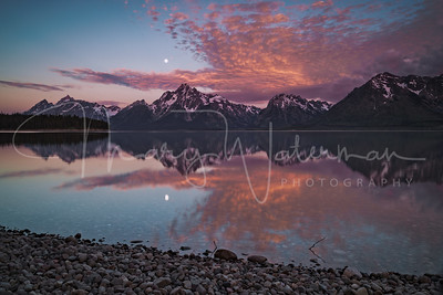 Sunrise Moonset at Jackson Lake