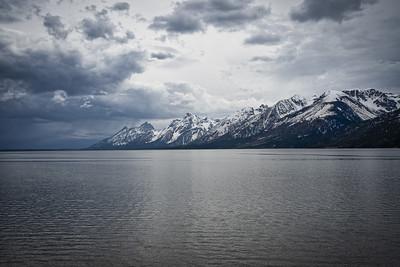 Teton Range and Jackson L:ake