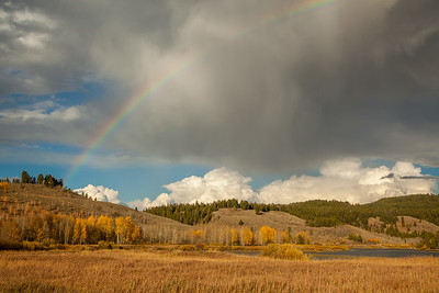 Rainbow over the Snake River at Oxbow Bend