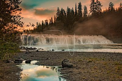 Cave Falls Sunrise