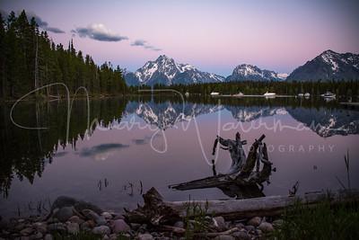 Jackson Lake Alpenglow