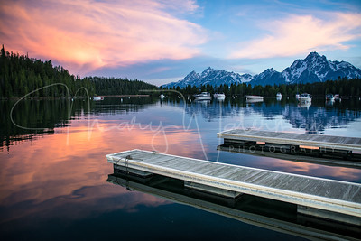 Jackson Lake Sunset at Colter Bay