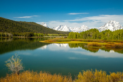 Snake River at Oxbow Bend with Tetons in the Distance, Grand Teton National Park