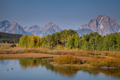 Snake River and Teton Range at Oxbow Bend