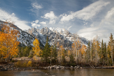 Mount Moran and Cottonwood Creek