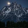 Jackson Lake Moonset