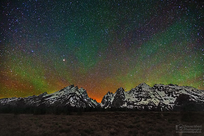 """Teton Skyglow,"" Grand Teton National Park, Wyoming"