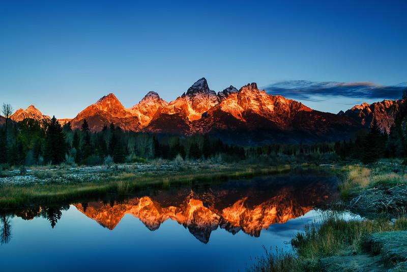 Sunrise on the Grand Tetons