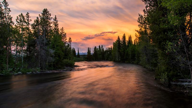 Sunset on Cottonwood Creek